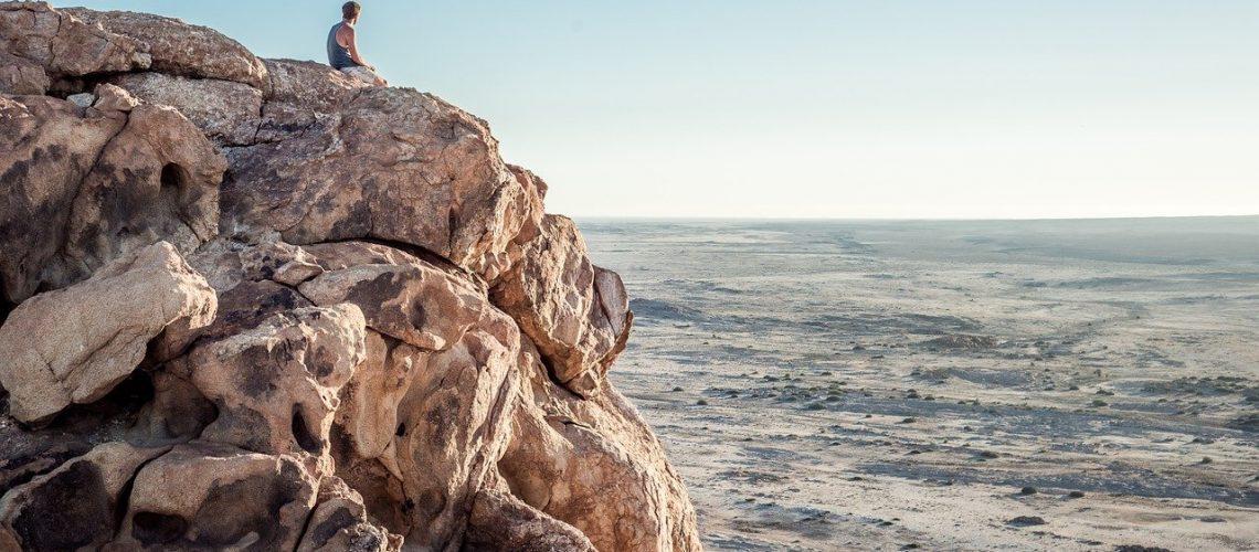 traveller, rocky, cliffs