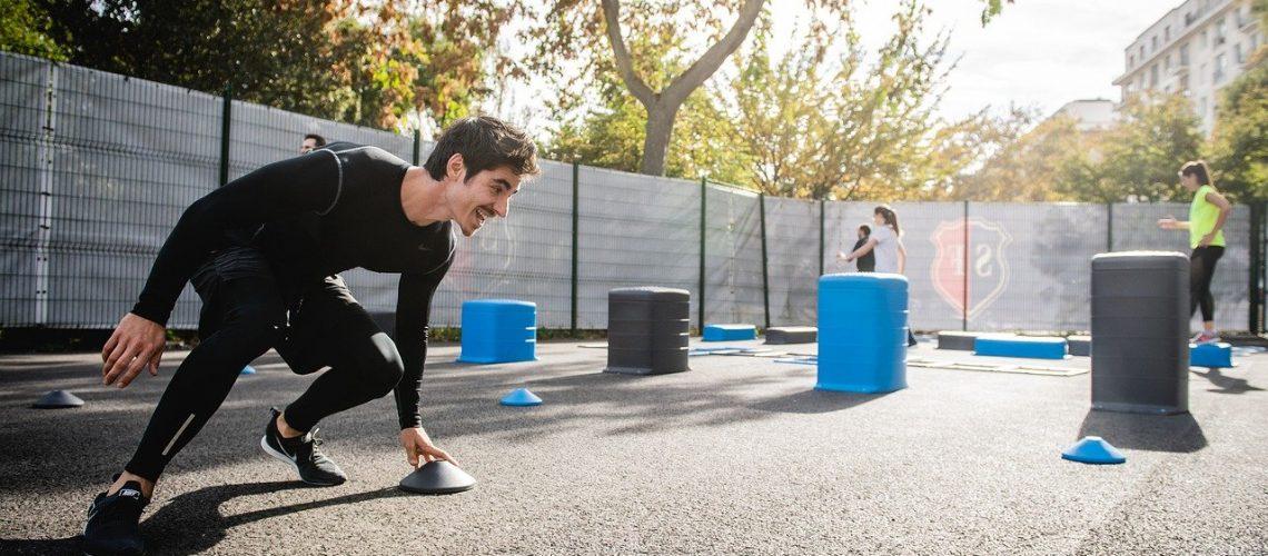 workout, man, training